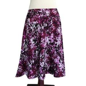 White house black market printed a line skirt 10